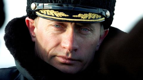 President-elect Putin watches Russia's Northern Fleet conduct tactical exercises in the Barents Sea in April 2000.