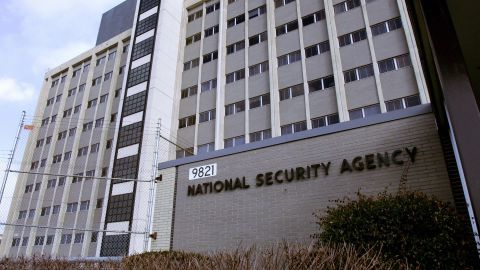 Fort Meade, UNITED STATES: (FILES): This 25 January 2006 file photo shows the National Security Agency (NSA) in the Washington suburb of Fort Meade, Maryland, where US President George W. Bush delivered a speech behind closed doors and met with employees in advance of Senate hearings on the much-criticized domestic surveillance. The US National Security Agency has assembled the world's largest database of telephone records tracking the phone calls of tens of millions of AT and T, Verizon and BellSouth customers, sources familiar with the program told USA Today. In an article published 11 May 2006, the daily said the NSA launched the secret program in 2001, shortly after the 11 September 2001 attacks, to analyze calling patterns in a bid to detect terrorist activity. AFP PHOTO/FILES/Paul J. RICHARDS (Photo credit should read PAUL J. RICHARDS/AFP/Getty Images