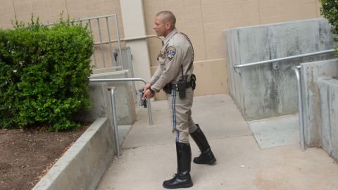 """During the campus lock down, <a href=""""http://ireport.cnn.com/docs/DOC-985263"""">iReporter Aleksandr Kats</a> photographed local law enforcement trying to secure the grounds of Santa Monica College."""