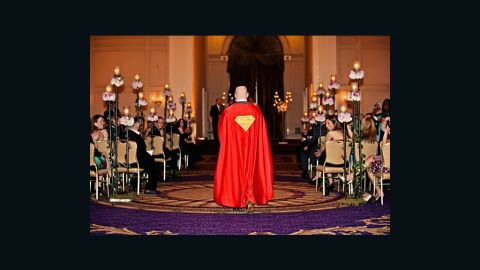 """On his wedding day in 2011, <a href=""""http://ireport.cnn.com/docs/DOC-984108"""">Robert Levine</a> donned a Superman cape while walking down the aisle. The orchestra played the John Williams score from 1978's """"Superman: The Movie."""" He said he wanted to wear the cape because Superman has always inspired him. """"He represents the good in all of us,"""" he said. After the ceremony, wedding guests couldn't help but talk about Levine's fashion choice. """"All the speeches at the wedding ended up revolving around my infatuation with the Man of Steel, but to me, I just wanted to honor the iconic legend,"""" he said."""