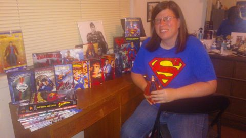 """When she was younger, <a href=""""http://ireport.cnn.com/docs/DOC-984392"""">Melissa Daigle</a> remembers hating to read. So, her father, a comic book fan, introduced her to Superman comic books to improve her reading comprehension. Today, Superman inspires her on many levels. """"Whether to be honest in my own mistakes, (have) compassion for others or to believe in the good of others. It isn't always easy to do so, but I continually strive to be the best I can be,"""" she said."""