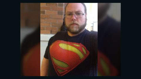 """<a href=""""http://ireport.cnn.com/docs/DOC-984249"""">Matthew Blanchard's</a> earliest memories of Superman are from the Christopher Reeve films. He doesn't think Superman has fallen from the """"top tier"""" of superheroes, but that in fact, his legacy has endured the test of time. """"I think he is so admired because he is the epitome of 'the good guy,'"""" he said. """"Superman has all that Kryptonian strength, but I think what so many people are inspired by is his strength of character."""" Blanchard is seen here sporting a shirt with the new """"Man of Steel"""" movie logo."""