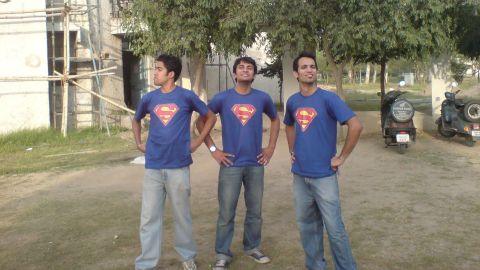 """<a href=""""http://ireport.cnn.com/docs/DOC-979794"""">Nishan Marc Pereira</a> and his friends Pushpinder Singh and Akash Verma are huge superhero fans, so much so that they decided to buy matching Superman T-shirts and take random photographs posing as superheroes on their college campus in Punjab, India, in 2010. """"As a child, my brothers and I used to fight over who could be Superman because a simple blanket around our neck and the underwear inside out was the easiest to copy. We used to run around the house like this, playing bad guys and good guys,"""" Pereira said."""