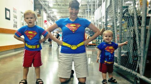 """<a href=""""http://ireport.cnn.com/docs/DOC-978958"""">Steve Crawford</a> photographed his wife, Lisa, and his two sons dressed up as a superman family. He says his son, Brendan, has been on a Superman kick and insisted that his mom and younger brother join him in dressing up as the """"Man of Steel."""" Often, he said, Superman is the first superhero kids are exposed to. """"Kids like to pretend, and that's so far away from reality, that it's fun to imagine,"""" he said, recalling that his earliest memories of Superman are from the 1980s Christopher Reeve movies."""