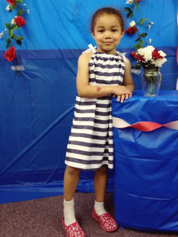 """The CHAPS Early Childhood Center in Hudson, Massachusetts, held its preschool prom first thing in the morning, complete with photo stations and kiddie sing-a-longs.<a href=""""http://ireport.cnn.com/docs/DOC-984573""""> Bella Anderson</a> agreed to leave her Spider-Man tennis shoes at home and wore a summer dress with pink party shoes."""
