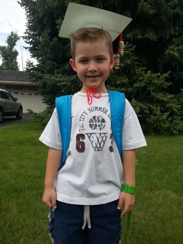 """For <a href=""""http://ireport.cnn.com/docs/DOC-983742"""">Mason Smith's</a> graduation from Rosemary's Preschool in Logan, Utah, his teacher made cardboard caps with Fruit Loop tassels. """"I think it's important to celebrate all graduations from pre-K to doctorates,"""" said mom Megan Smith. """"By letting a child know early on how proud you are of them for their accomplishments, it helps them understand how important it is to continue with that behavior. Think about it, we scream and applaud at the first potty; we should do the same with every milestone!"""""""