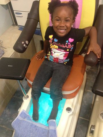 """Five-year-old <a href=""""http://ireport.cnn.com/docs/DOC-983822"""">Nadiyah Grace</a> earned a pedicure and manicure after being named valedictorian of her graduating class at the Adorable Tots Preschool in Pensacola, Florida. She delivered a speech at the graduation ceremony, telling the crowd, """"This has been a great year for me. I have learned a lot. My favorite things to do are read and play games on the iPad. I will have no problems in kindergarten next year."""""""