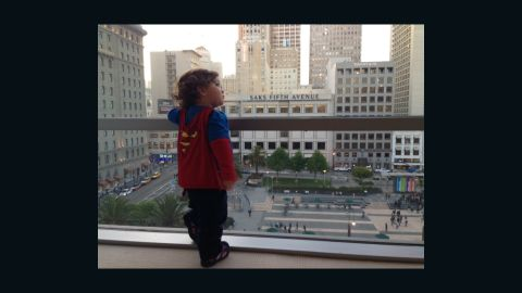 """<a href=""""http://ireport.cnn.com/docs/DOC-978667"""">Keren Espinoza</a> loves dressing her 19-month-old son, Jadon, as Superman. """"I love to see him run and swing at the park. He looks like his cape really makes him fly,"""" she said. She says Jadon's father is a huge comic book fan, and Jadon already has years worth of superhero memorabilia waiting to be passed down to him by his family."""