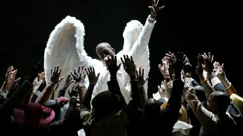 """<strong>February 2006: </strong>A year after <a href=""""http://www.mtv.com/news/articles/1496909/ray-charles-wins-most-grammys-kanye-steals-show.jhtml"""" target=""""_blank"""" target=""""_blank"""">his theatrical performance of """"Jesus Walks""""</a> at the Grammys, West posed as<a href=""""http://www.rollingstone.com/music/news/the-100-best-covers-the-passion-of-kanye-west-20060518"""" target=""""_blank"""" target=""""_blank""""> Jesus Christ on the cover of Rolling Stone magazine</a> in February 2006. It was a move so controversial he later claimed, """"I can't even get endorsements now. The ones that might have been open to me when I was just a cute kid in a Polo."""""""