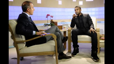 """<strong>November 2010</strong>: While gearing up to release """"My Beautiful Dark Twisted Fantasy,"""" West did a promotional appearance on """"Today"""" with Matt Lauer -- one that <a href=""""http://latimesblogs.latimes.com/gossip/2010/11/kanye-west-matt-lauer-george-bush.html"""" target=""""_blank"""" target=""""_blank"""">quickly turned sour</a> and led to him canceling his performance on the show."""