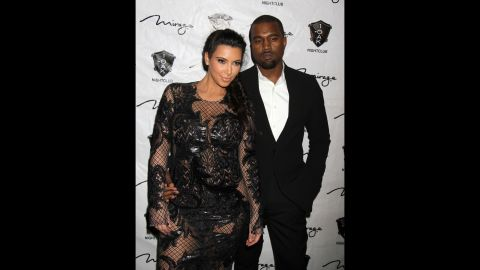 """<strong>December 2012</strong>: Every expectant parent has their own way of breaking the news to loved ones that they're awaiting an addition to the family. <a href=""""http://www.tmz.com/2012/12/30/kim-kardashian-pregnant-kanye-west-baby-announcement/"""" target=""""_blank"""" target=""""_blank"""">Kanye opted to share the joyous news</a> with concert attendees at his Atlantic City show on December 31, when he encouraged the crowd to """"make some noise"""" for his """"baby mama."""""""