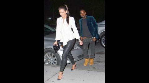 """<strong>April 2012: </strong>With speculation raging, since he couldn't seem to keep his pants up while hanging out with Kim Kardashian, <a href=""""http://marquee.blogs.cnn.com/2012/04/05/kanye-admits-he-fell-in-love-with-kim-k-in-song/"""" target=""""_blank"""">Kanye dropped a single in which he admitted he was in love with her.</a> Time soon revealed that the two were indeed an item."""
