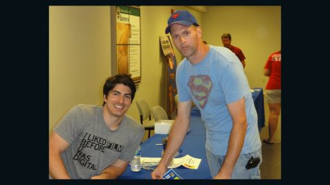 """<a href=""""http://ireport.cnn.com/docs/DOC-987137"""">Kenny Rich</a> travels from the small town of Clarkton, Missouri, to the Metropolis event each year, and has met many of the """"Superman"""" celebrities there over the years, such as """"Superman Returns"""" star Brandon Routh. His tight-knit community of Superman fans pitched in to donate parts of their collections to a<a href=""""http://www.stltoday.com/news/local/metro/stolen-superman-collection-returned-suspect-in-jail/article_ca023a0b-df7b-5f2d-b86e-6b5c2327b04f.html"""" target=""""_blank"""" target=""""_blank""""> fellow fan</a> after his Superman collection was stolen."""