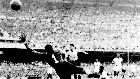 """Moacyr Barbosa Nascimento's life was forever changed after the 1950 World Cup. With Brazil needing just a draw against Uruguay in its final game to lift the trophy for the first time, the team lost 2-1 and he was blamed for the second goal. The goalkeeper's perceived mistake haunted him. Twenty years later he overheard a woman in a supermarket say to her son, """"There is the man who made Brazil cry."""""""