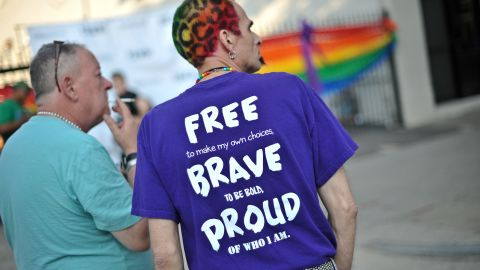 Men attend the 2013 Capital Pride parade in Washington on June 8