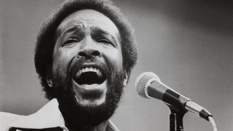 """Marvin Gaye, pictured in 1984, sang a <a href=""""http://www.npr.org/templates/story/story.php?storyId=985241"""" target=""""_blank"""" target=""""_blank"""">memorable but untraditional version</a> during the 1983 NBA All-Star Game."""