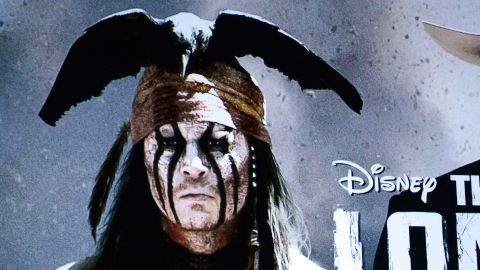"""Johnny Depp, left, plays Tonto and  Armie Hammer plays the Lone Ranger in the upcoming movie """"The Lone Ranger,"""" from Disney."""
