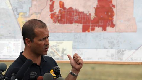 El Paso County Sheriff Terry Maketa speaks during a press conference about the Black Forest fire on June 14 in Colorado Springs. County spokesman Dave Rose told CNN it appeared to be the most destructive in the history of Colorado.