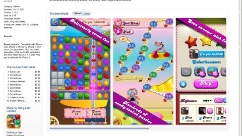 """""""Candy Crush"""" is an extremely popular mobile game on Apple and Android platforms."""