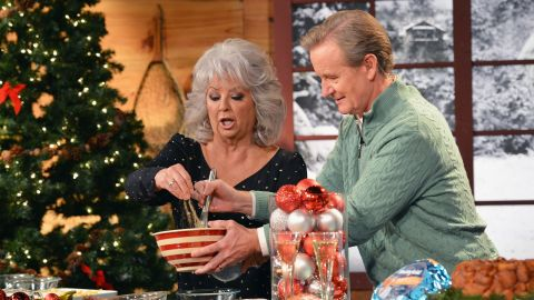 """Deen and Steve Doocy host the """"Fox & Friends Christmas Special"""" in 2012 in New York."""