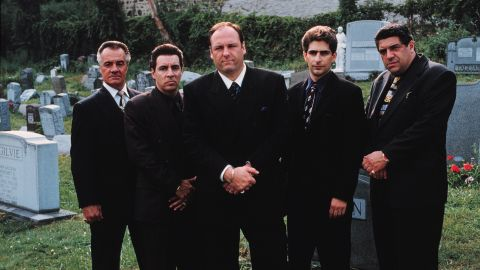 "The cast of ""The Sopranos,"" from left, Tony Sirico, Steve Van Zandt, James Gandolfini, Michael Imperioli and Vincent Pastore."