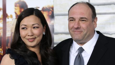 """Gandolfini with his wife, Deborah Lin, at the premiere of HBO Films' """"Cinema Verite"""" at Paramount Pictures Studio in Los Angeles in 2011."""