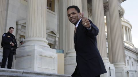 """Jackson, here on the U.S. Capitol steps in December 2011, represented Illinois' 2nd Congressional District from 1995 to 2012. <a href=""""http://www.cnn.com/2012/11/21/politics/illinois-jackson-resigns"""">He resigned from Congress</a> in November 2012, citing the need to spend time """"restoring my health.""""<br />"""