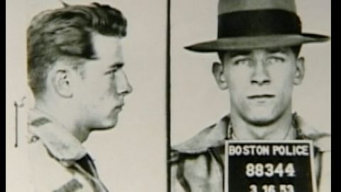 """This mugshot shows James """"Whitey"""" Bulger in March 1953."""