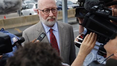 J.W. Carney, Bulger's defense attorney, arrives at the U.S. Federal Courthouse for the start of Bulger's trial in Boston on Wednesday, June 12, 2013.