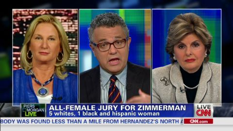 exp pmt george zimmerman jury jeffrey toobin jo ellan dimitrius gloria allred_00002701.jpg