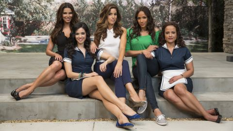 """The cast of """"Devious Maids"""" from left: Roselyn Sanchez, Edy Ganem, Ana Ortiz, Dania Ramirez and Judy Reyes"""