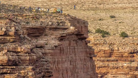 """Wallenda walks on a tightrope 1,500 feet above a river near the Grand Canyon in Arizona in June 2013. <a href=""""http://www.cnn.com/2013/06/24/us/arizona-high-wire-wallenda/index.html"""">The quarter-mile trek</a> over the Little Colorado River Gorge took 22 minutes and 54 seconds."""