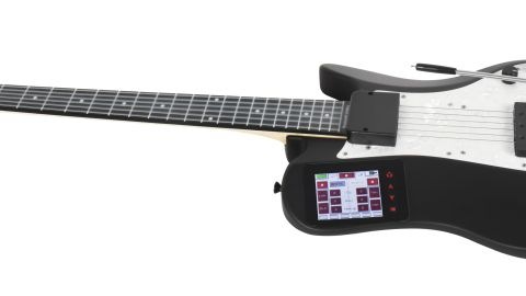 The You Rock Guitar is an affordable digital MIDI guitar. It was designed for home or studio recording and connects with a broad range of computers and mobile devices. Sort of like a Guitar Hero controller, but for grown-ups.