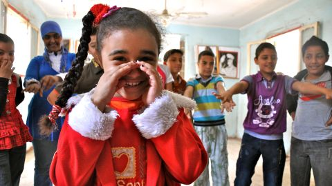 Students gather at the only youth center in one of Cairo's poorest neighborhoods.