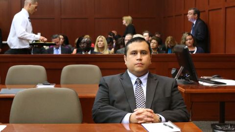George Zimmerman waits for his defense counsel to arrive in court on Monday, June 24, in Sanford, Florida.