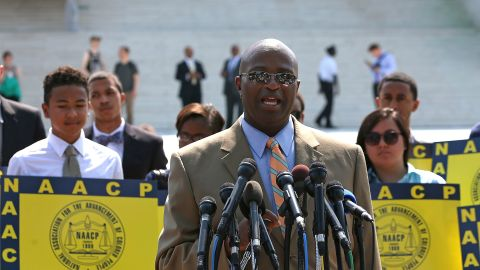 """The Voting Rights Act is often called the crown jewel of the civil rights movement, yet many Americans do not know why or how it was passed. Pictured, NAACP Field Director Charles White  speaks on the steps of the U.S. Supreme Court on Tuesday, June 25, 2013, after<a href=""""http://www.cnn.com/2013/06/25/politics/scotus-voting-rights/index.html""""> the court limited use of a major part of the landmark Voting Rights Act of 1965,</a> in effect invalidating a key enforcement provision. Here are some key moments and characters in the voting rights saga."""