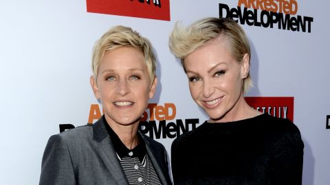 """Talk show host Ellen DeGeneres, left, and actress Portia de Rossi married in 2008. De Rossi was <a href=""""http://marquee.blogs.cnn.com/2010/09/24/introducing-mrs-and-mrs-degeneres/"""" target=""""_blank"""">granted the right to change her last name to """"DeGeneres""""</a> by a Los Angeles court in 2010."""