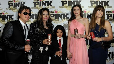 Prince, LaToya, Blanket, Monica Gabor and Paris attend a party for Mr. Pink drinks in 2012.