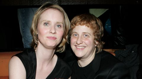 """""""Sex and the City"""" star Cynthia Nixon, left, started dating activist Christine Marinoni in 2004. The couple got engaged in 2009 and married in 2012."""