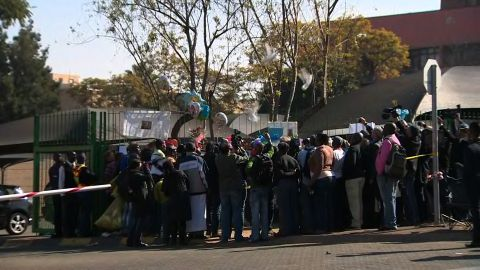 Doves were released outside Mandela Hospital. Nelson Mandela still remains in critical condition.