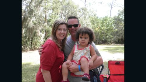 Matt and Melanie Capobianco of North Charleston, with their adopted daughter Veronica.