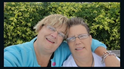 """Sara Hayden, left, and partner Darcy Schriever hope the ruling means """"we <a href=""""http://ireport.cnn.com/docs/DOC-995822"""">have a chance to open the door</a> (for same-sex marriage) in Florida."""""""