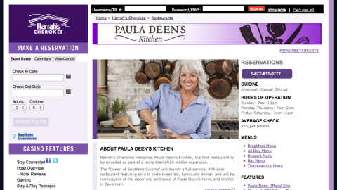 """Caesar's Entertainment Corporation, which operated four Paula Deen-branded restaurants at its casinos, announced that it is severing ties with the chef. Deen still maintains a flagship restaurant, The Lady & Sons, as well as Uncle Bubba's Oyster House (named for her brother Earl """"Bubba"""" Hiers), both in Savannah, Georgia."""