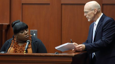 """<a href=""""http://www.cnn.com/2013/06/27/opinion/zimmerman-jeantel/index.html"""">Rachel Jeantel</a>, a friend of Martin's, is questioned by defense attorney Don West on June 27. She appeared to get frustrated several times during the cross-examination, including one time when West suggested they could break until the morning so she'd have more time to review the deposition transcript."""
