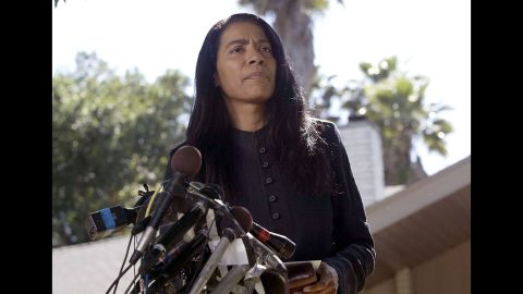 """The real-life inspiration behind ABC's hit show """"Scandal"""" has helped celebrities, politicians and major companies deal with a variety of crises. Judy Smith, here in 2002, acted as a spokeswoman for the family of Washington intern <a href=""""http://www.cnn.com/2013/02/07/justice/chandra-levy-hearings"""" target=""""_blank"""">Chandra Levy</a>, who disappeared in 2001 and was revealed to have had an affair with Gary Condit, then a U.S. congressman from California."""