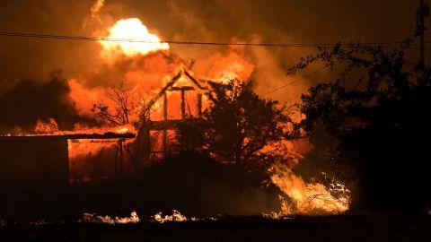 A home burns in Yarnell, Arizona, on Sunday, June 30.