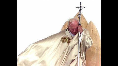 Pope John Paul II at the Mass of beatification of Anton Martin Slomsek in Maribor, Slovenia, in September 1999.