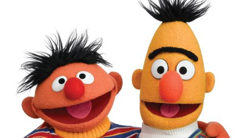 """""""Sesame Street's"""" Muppet characters were originally intended to be support for the human cast, but test audiences responded so warmly to <strong>Bert and Ernie</strong>'s sketches that the producers put Muppets in starring roles. The comic duo have been two of the show's most popular characters ever since."""