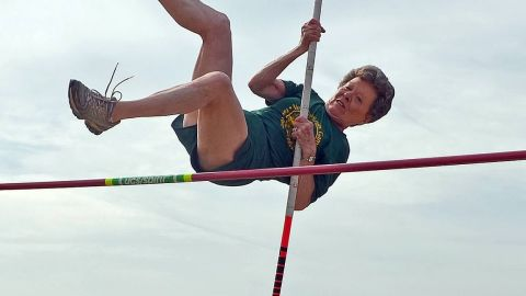 Flo Meiler, 79, holds 15 world records and 12 U.S. records in senior track and field events.