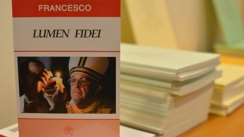 """An edition of Pope Francis' first encyclical, titled """"Lumen Fidei."""""""